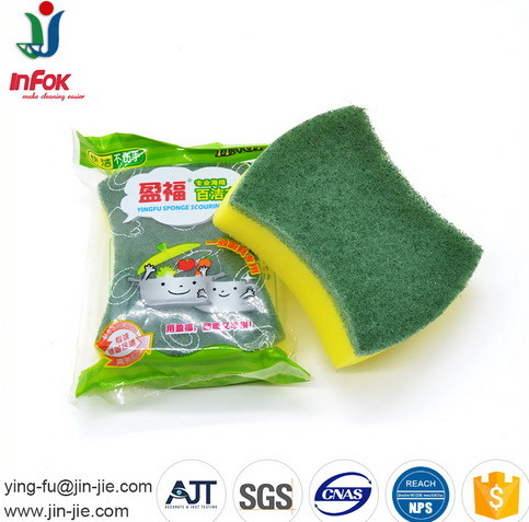 Bathroom Cleaning Sponge Scouring Pad pictures & photos