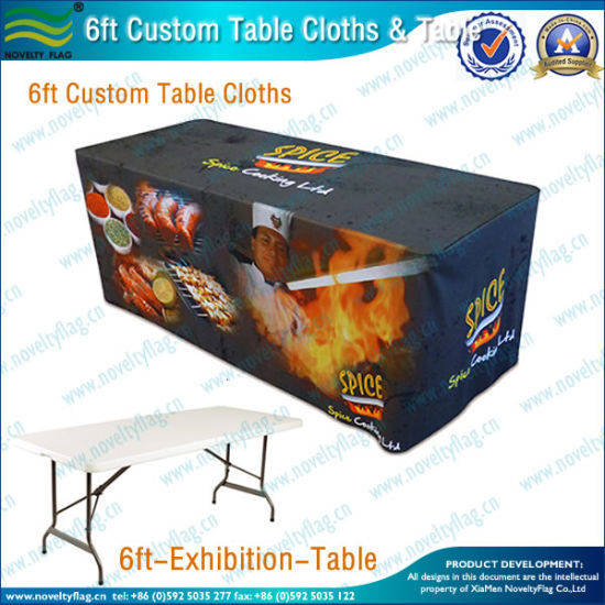 Custom Table Cloth Cover with 4FT/6FT/8FT Table (B-NF18F05016) pictures & photos