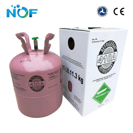 Mixed 11 3kg R410A Refrigerant Gas to Replace R22 Gas