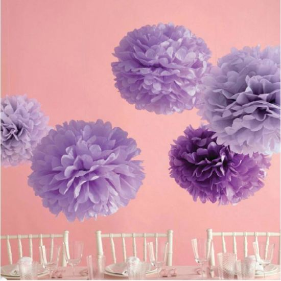 China 5pc 6inch 15cm Tissue Paper Flowers Paper Poms Balls Lantern