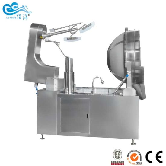 Heavy Duty Electric Heated Double Food Jacket Kettle with Mixer by Ce SGS Approved for Peanut Machine