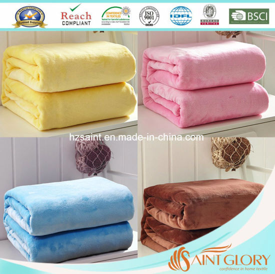 Wholesale 100% Polyester Printed Polar Fleece Baby Flannel Mink Blanket pictures & photos