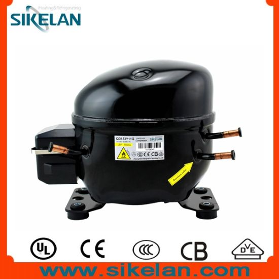 Sikelan Refrigeration Part Freezer Fridge Refrigerator Hermetic AC R600A Compressor Qd153y11g 115V