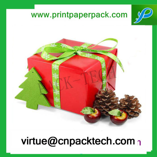 China Beautiful Color Customized Present Ribbon Wrap Paper Gift Box