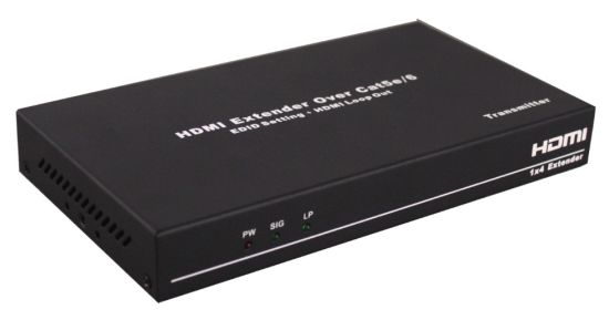 1X4 1 in 4 out HDMI Extender 50m Over Single Cat5e UTP (EDID, HDMI Loop out) pictures & photos