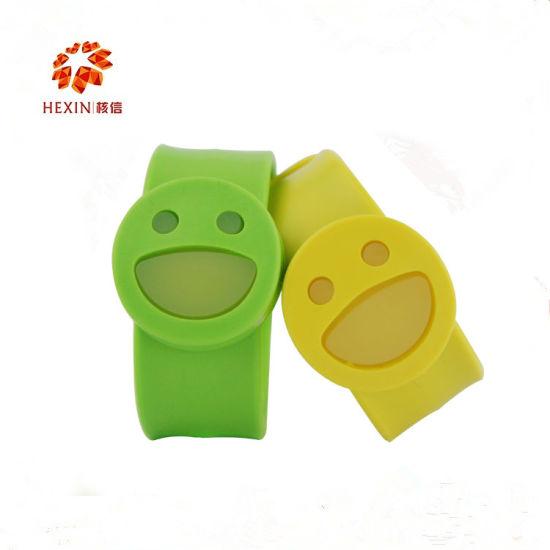 China Silicone Wristband Wholesale Custom Slap Bracelets/Anti-Mosquito Slap Bracelet Sale