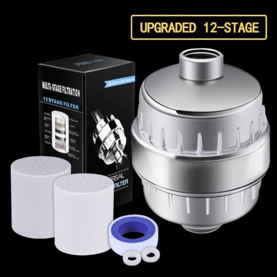 Bathroom 12 Stage Filtration Purifier Shower Water Filter Chlorine Fluoride Remover Purification Accessories