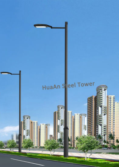 Galvanized Square Metallic Steel Lighting Light Lamp Pole Mast pictures & photos