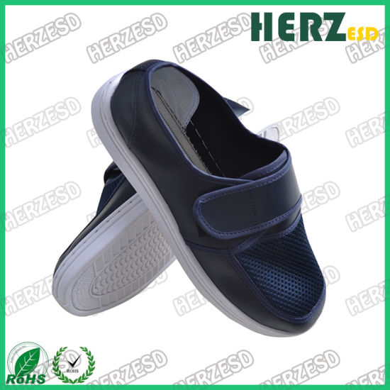 ESD Anti-Static PVC Sole Net Mesh Shoes for Worksafety Cleanroom