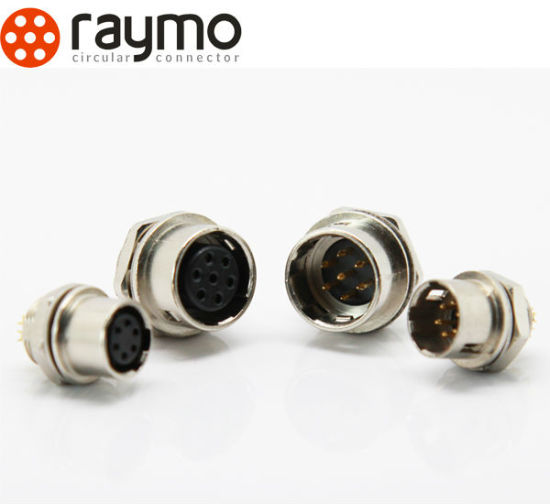 Hr10 Series Straight Fixed Receptacle Connector 4 Pin Femal Industrial Circular Connector