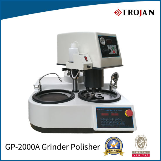 Laboratory Specimen Grinding Machine Usage Metallographic Sample Grinder and Polisher