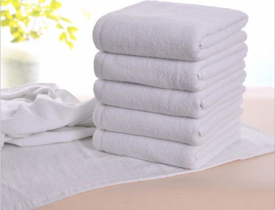 White Hotel Bath Towel, Factory Supply Plain Solid 100% Cotton pictures & photos