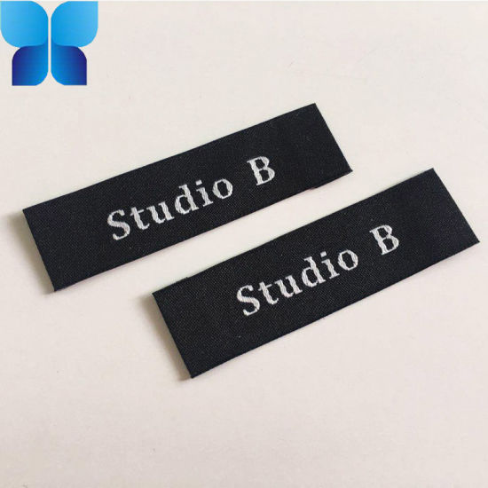Hot Sell End Fold Laser Cutting High Density Custom Woven Label for Garments