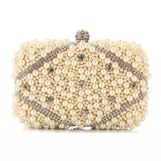 d8f2b5e558f High Quality Fashion Designer Women Handbag Pearl Clutch Bag pictures &  photos