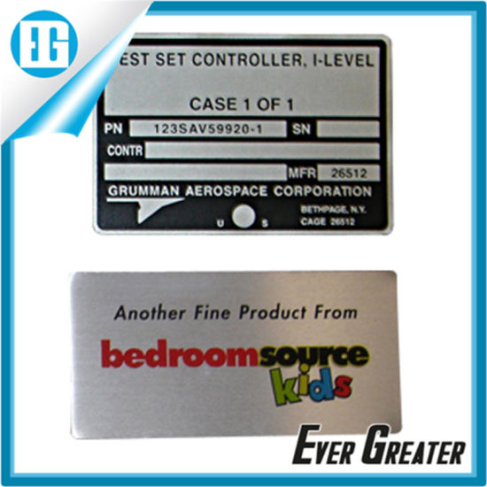 OEM Logo Plate Aluminum Labels for Machine pictures & photos
