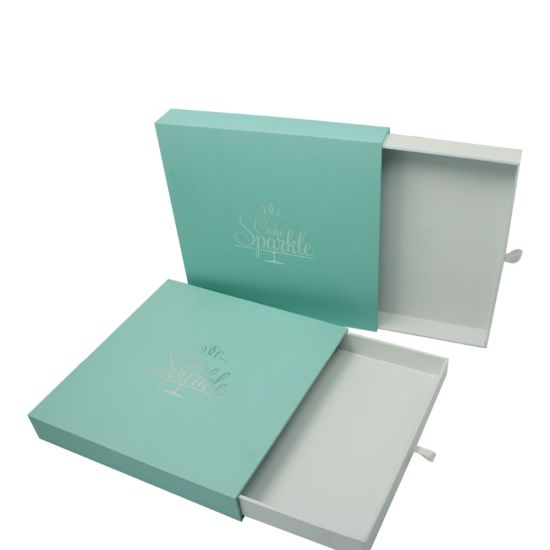 China Custom Design Sliding Drawer Gift Box Make Up Box With Ribbon