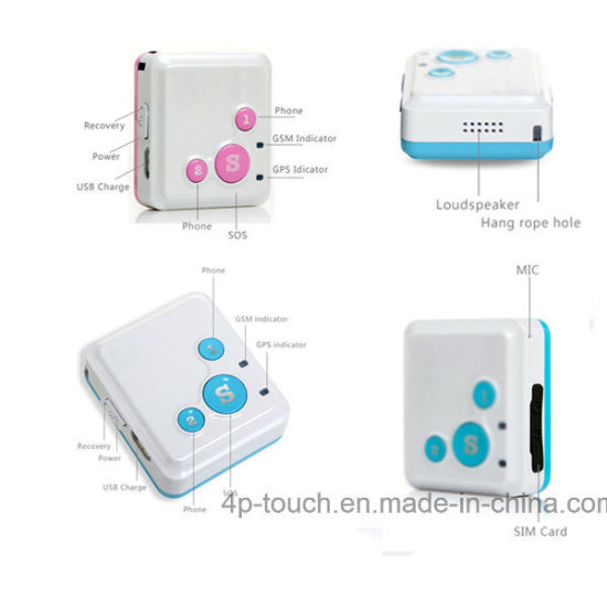 Sos Button Personal Mini GPS Tracker with SIM Card Slot V16 pictures & photos