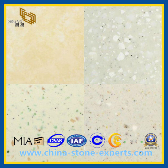 White / Grey/ Yellow Caesar Quartz Stone for Countertops&Vanity Top
