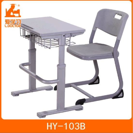 Melamine MDF Table and Chair Student Furniture for Sale pictures & photos