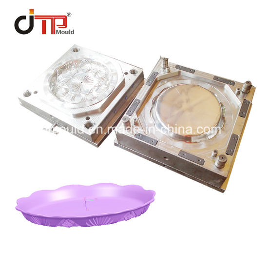 Flower Shape of Plastic Fruit Tray Plate Mould