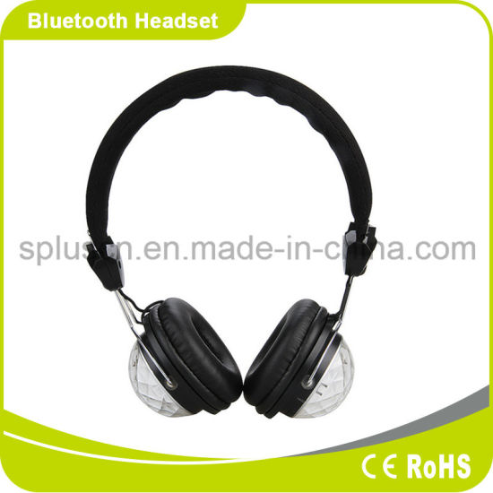Competitive Price Head Style Wireless LED Light Bluetooth Headphone for Cell Phone pictures & photos