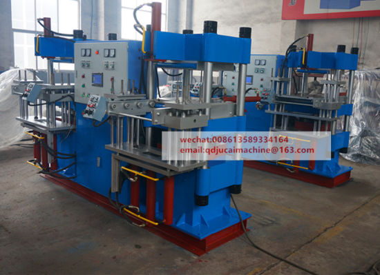 Double Station Hydraulic Rubber Press Machine pictures & photos