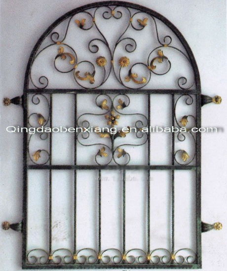 China Wrought Iron House Window Grill Designs China Simple Iron