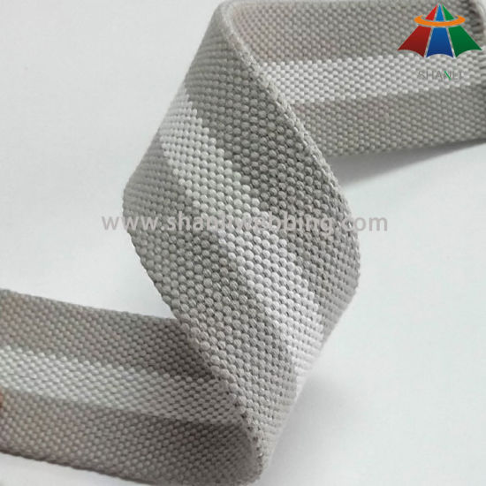 40mm Polyester Cotton Striped Webbing for Bags