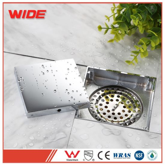 China Square Shower Floor Drain With Tile Insert Grate Bathroom