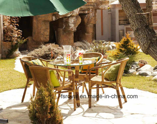 China Whole Outdoor Restaurant, Bamboo Patio Furniture Set
