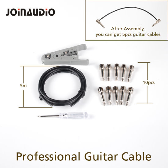 China PRO Instrument Cable DIY Solderless Kits Guitar Pedal Patch