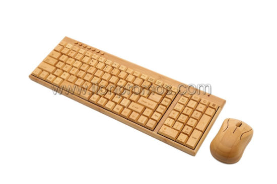 Eco Friendly Green Business Gift Bamboo 2.4G Bluetooth Wireless Keyboard and Mouse Set pictures & photos