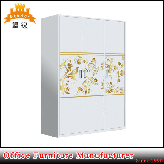 Fas 092 3 Doors Steel Bedroom Furniture Clothes Hanging Cabinet Wardrobe Pictures Photos