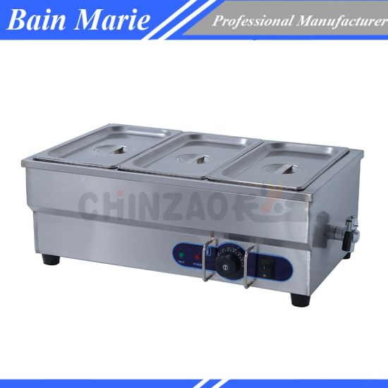 BRE 1.5kW Commercial Electric Stainless Steel Bain Marie-4 Pans /& Lids