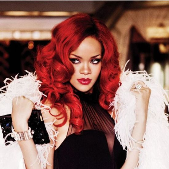 Rihanna New Hairstyle Long Curly Red Clour Synthetic Full ...