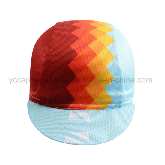 de688427d6f13 Custom Sublimation Printed Coolmax Cycling Cap Bike Cap with Different  Designs pictures   photos
