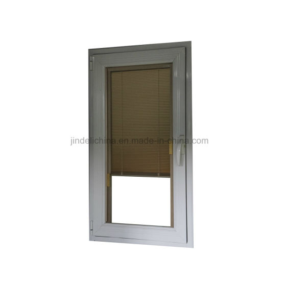 China Double Glass Doors Windows With Internal Shades Blinds Between