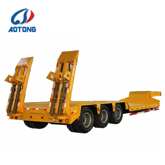 60-80t Flat Lowbed Semi Trailer for Sale pictures & photos