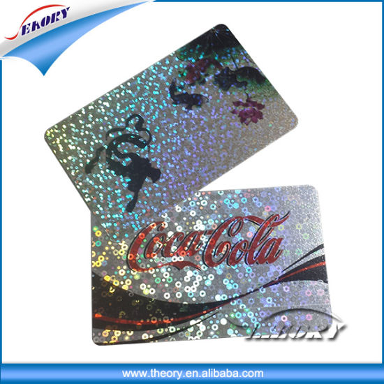 Customized Printed PVC Card Shiny Sparkle Printing Card pictures & photos