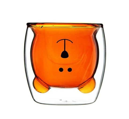 Customized Gift Double Wall Bear Shaped Glass Cup for Tea Milk Coffee OEM/Kitchenware/Mug/Glassware/Glass Jar pictures & photos