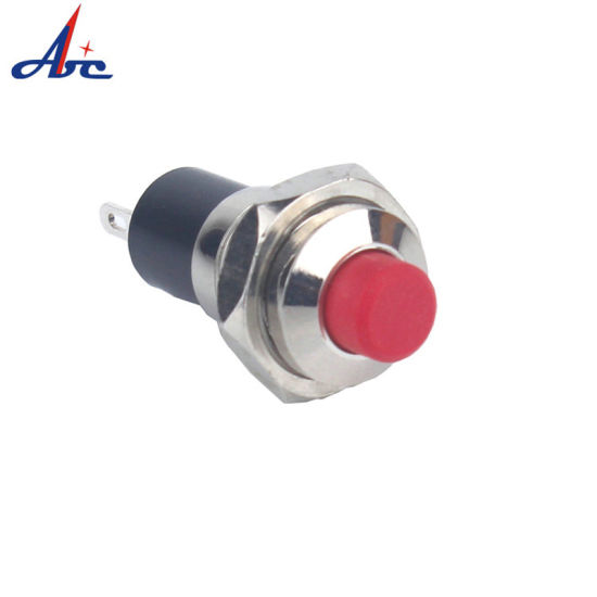 7mm 1no Self-Locking Maintain Metal Electric on off Mini Push Button pictures & photos