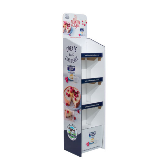 Cosmetic Paper Pop POS Cardboard Display Stand Fsdu for Supermarkets