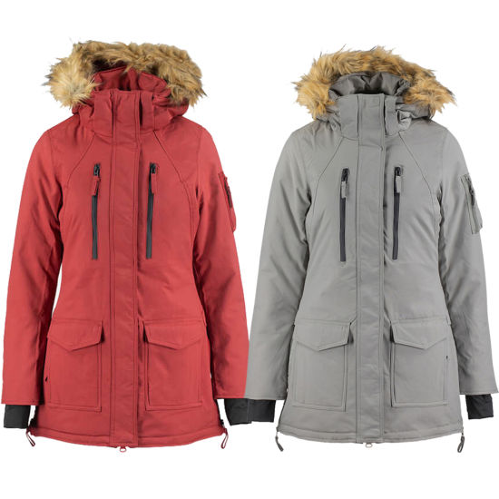 Womens Winter Windproof Long Parka Insulated Padding Jacket