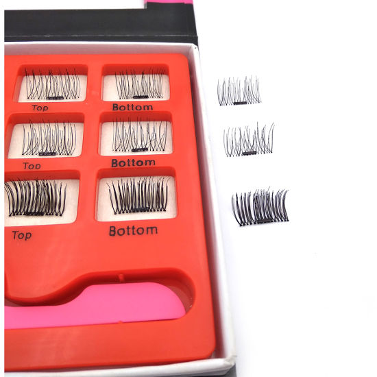 High Quality Private Label Makeup 3D Faux Mink Fur Magnetic Strip Eyelashes pictures & photos
