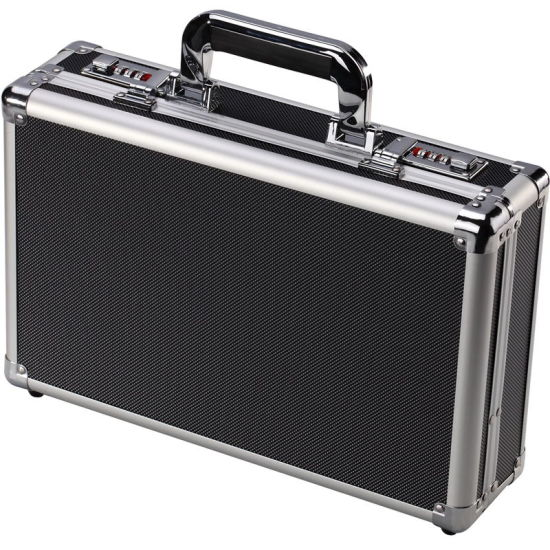 Aluminum Briefcase Travel Business Case Tool Case Doument Attache Case with code lock (BC014)