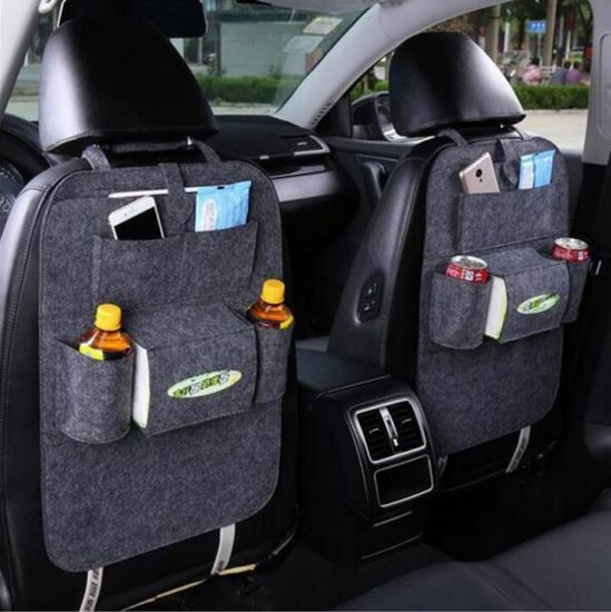 Promotion Gift Multi-Functional Pockets Felt Car Back Seat Storage Organizer