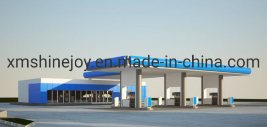 Strong Wind Resistant Prefabricated Steel Space Frame Petrol Gas Station pictures & photos