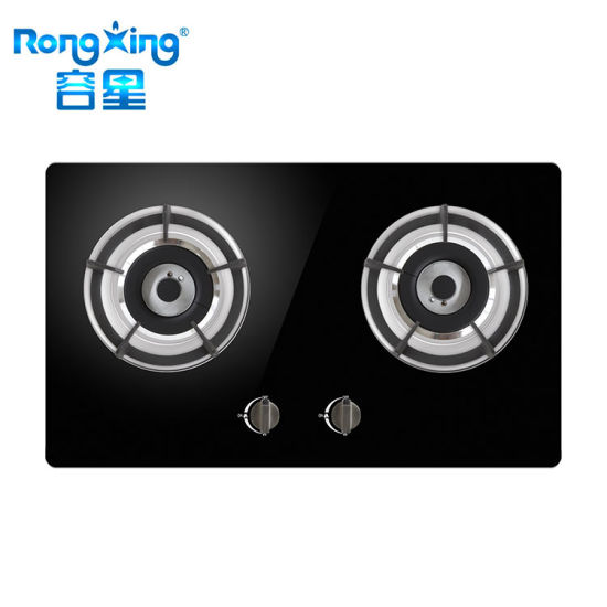 Modern Style Kitchen Appliance Tempering Glass Gas Hobs