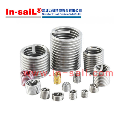 Free Running Stainless Steel Ships Free in USA by Aspen Fasteners Metric DIN 8140A M8X1X8 Metric Helical Thread Repair Inserts 50pcs ASMM19993