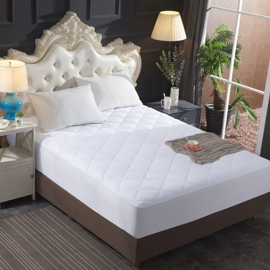 """Queen Size Quilted Microfiber Mattress Protector/ Cover Fitted up to 18"""" Deep Mattress 100% Waterproof Hot Selling"""